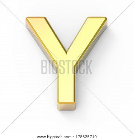 Matte Gold Font Y