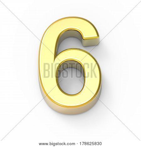 Matte Gold Number 6