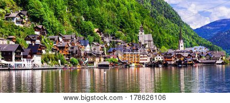 One of the most beautiful Alpine villages Hallstat in Austria