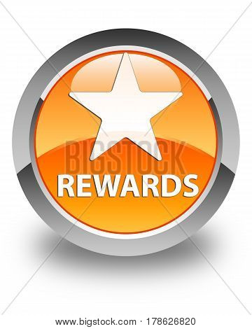 Rewards (star Icon) Glossy Orange Round Button