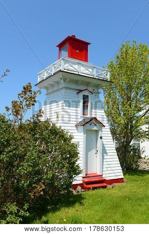 Annapolis Lighthouse was built in 1889 at the bank of Annapolis River in town of Annapolis Royal, Nova Scotia, Canada.