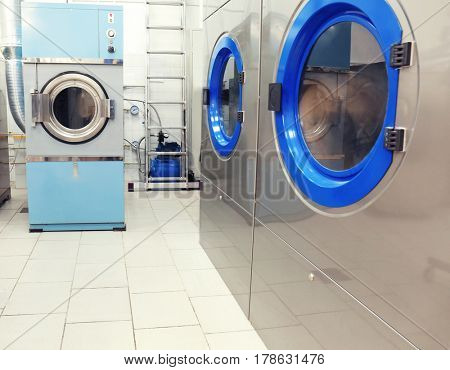 Washing machines at dry-cleaning