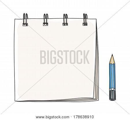 Small Notebook Hand Drawn  And Pensil Art Illustration