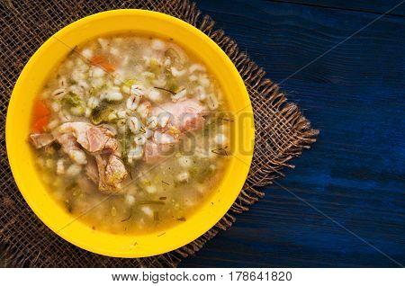 Pickle Soup .healthy Soup .soup Top View