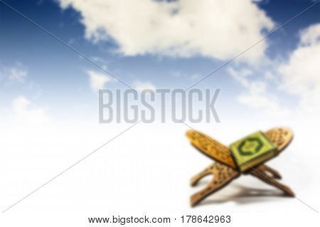 koran with sky , bstract blurred background