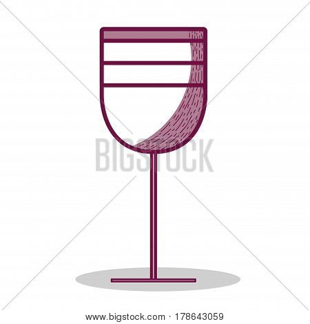 tasty wine glass icon, vector illustration design