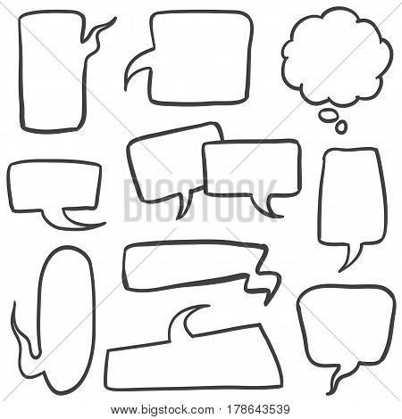 Set of bubble text collection stock vector illustration