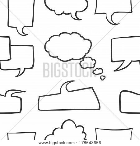 Collection stock of speech bubble vector art