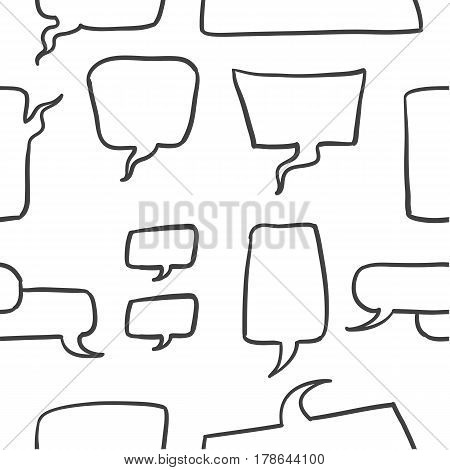 Illustration of speech bubble style collection stock