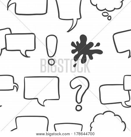 Illustration of text balloon style collection stock