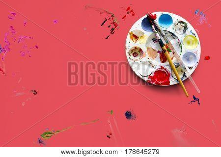 Acrylic color drawing painting vivid