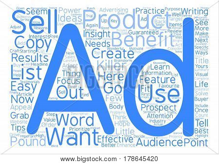 How To Pound Out Killer Ads That Get Results Word Cloud Concept Text Background