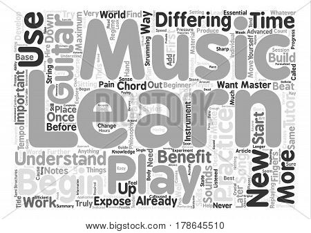 How To Practice Guitar text background word cloud concept