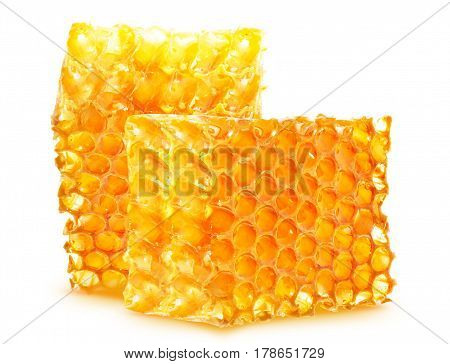 Honeycomb sweet  isolated on a white background