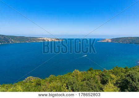 Aerial View Of Bosporus And Black Sea