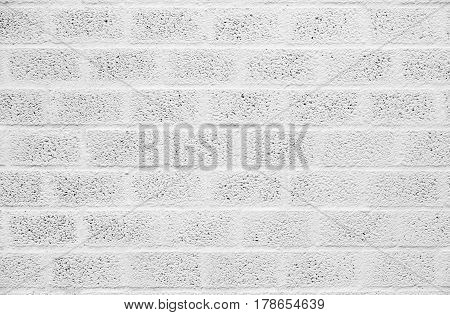 White painted concrete or brick block wall background