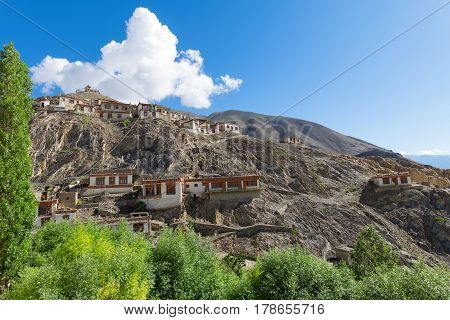 Lamayuru Gompa Ladakh village housesTibet Northern India