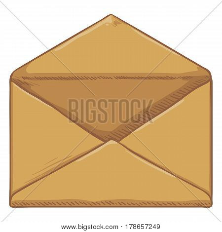Vector Cartoon Blank Brown Envelope