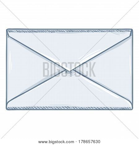 Vector Single Cartoon Blank White Envelope