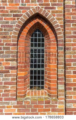 Window Of The Medieval Church Of Aduard
