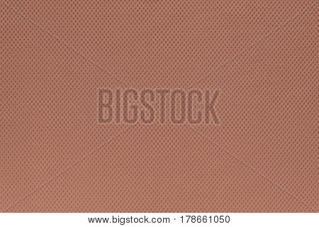 background and texture of cotton fabric of terracotta color