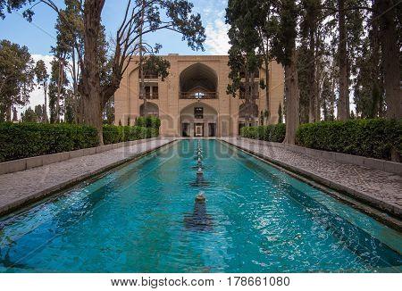 Kashan, Iran - Circa February 2016 - A shot of Fin Garden in Kashan, Iran