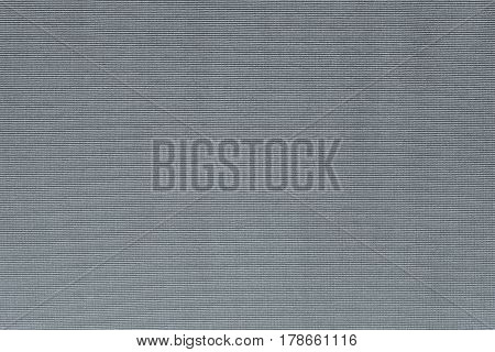 background and horizontal corrugated texture of cotton fabric of silvery color