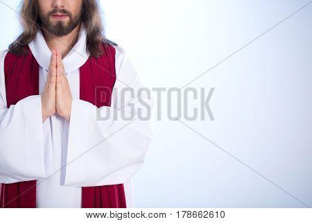 Jesus Putting Hands Together