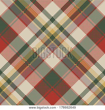 Burlap tartan fabric texture check seamless pattern. Vector illustration.