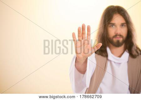 Messiah Raising Palm Of Hand