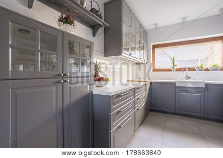 Kitchen With Fruit