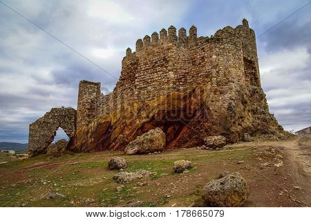 Ruins Of The Castle At El Berueco, Andalusia, Spain