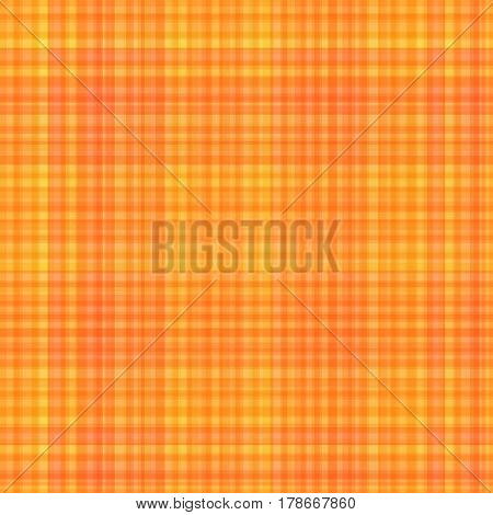 Seamless Pattern Checkered Yellow Backdrop. Stylized Plaid Material of Warm Sunny Colors.