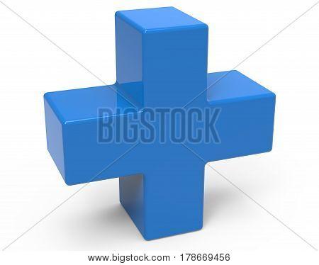 Blue Plus Sign