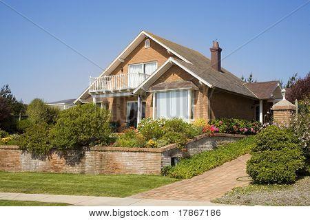 Beautiful brick house in suburbs