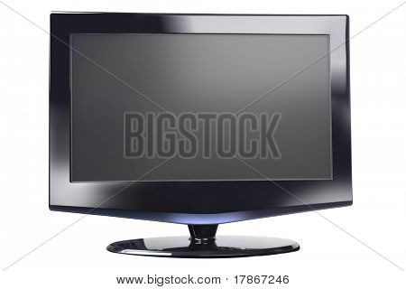Flat panel plasma/LCD television monitor, front, isolated