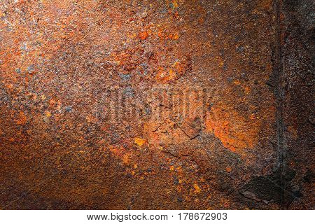 Rusty metal texture, rusty metal background. Grunge retro vintage of rusty metal plate for design with copy space for text or image.