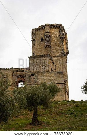 Beautiful Belalcasar castle in Andalusia in Spain