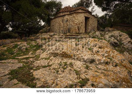 Greek Ruins In Vravrona, Greece