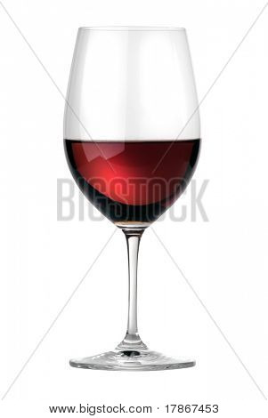 Merlot wineglass isolated