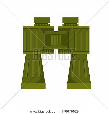 Vector illustration of the green colored touristic binocular isolated on white.