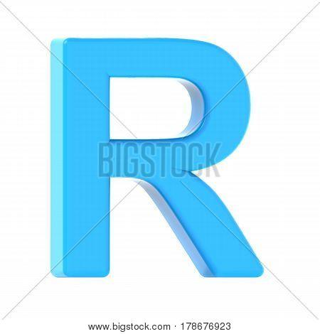 Light Blue Letter R