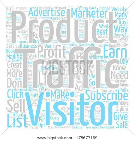How To Turn Your Traffic Into Greatest Profit text background word cloud concept