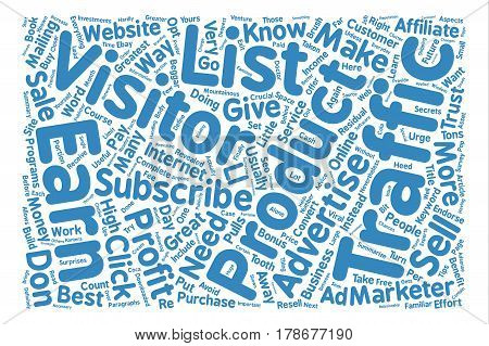 How To Turn Your Traffic Into Greatest Profit text background wordcloud concept
