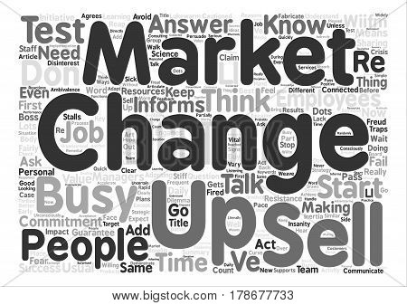 How to Up Sell Change Word Cloud Concept Text Background