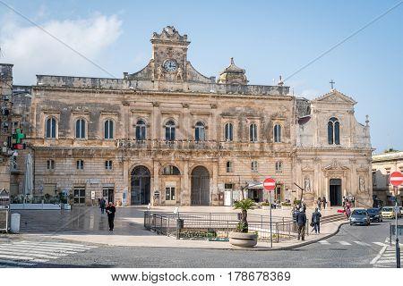 Ostuni City Hall, Puglia, Italy