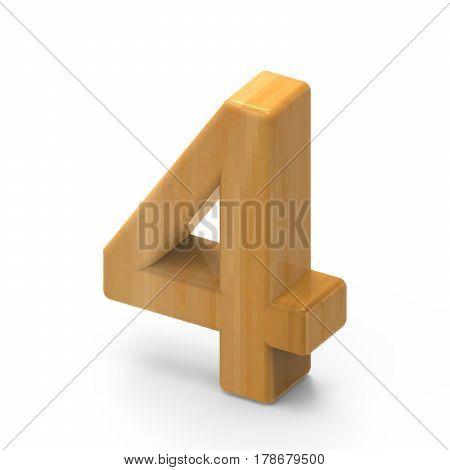 Wooden Grain Number 4