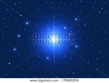 Milky way stars on a dark background - 2D render / illustration.