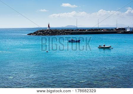 View From Playa Dorada In Playa Blanca, Lanzarote