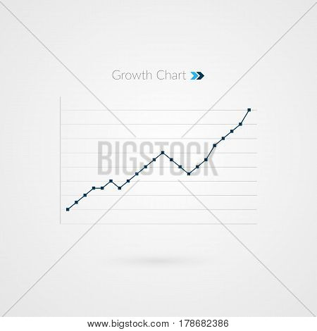 Infographic chart symbol. Graphic of growth. Business vector illustration